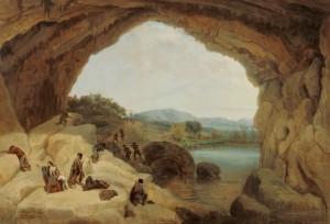 La Guardía Civil asalta a los bandoleros escondidos en la Cueva del Gato.